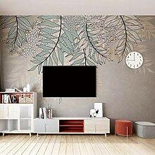 3D Wandbild Tapete Moderne Retro Pflanze