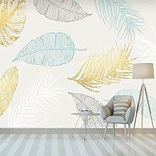 3D Wandbild Tapete Nordic Handgemalte Pflanze