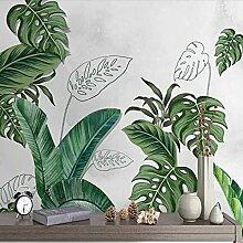 3D Wandbild Tapete Pflanze Grünes Blatt Moderne
