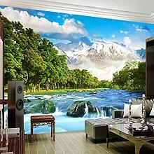 3D Wandbild Tapete Schnee Berg Landschaft