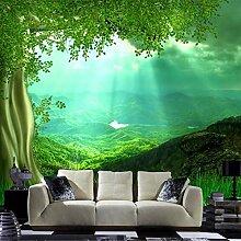 3D Wandbild Tapete Seidentuch Natur Landschaft