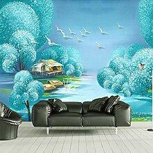 3D Wandbild Tapete Traum Wasserlandschaft