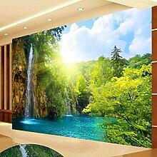 3D Wandbild Tapete Wasserfall Landschaft Lago