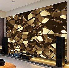 3D Wandbild Tapete ZZZXX Goldene Polygongeometrie