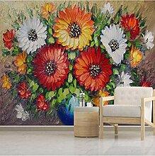 3D Wandbilder Blumenmalerei Fototapete Moderne