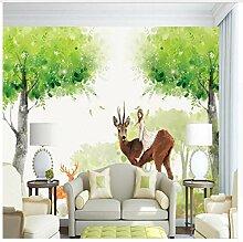 3D Wandbilder Fototapete Wald Fantastische Holz