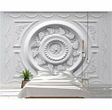 3D Wandbilder Gemusterte Gips Relief Tapete Für