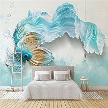 3D Wandbilder Goldfisch Fototapete Moderne Design