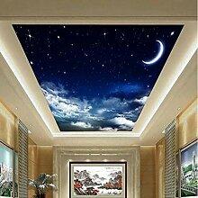 3D Wandbilder Stern Mond Fototapete Moderne Design