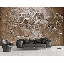 3D Wandbilder Tapete Relief Schönheit Mädchen