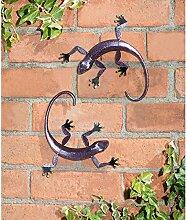 3D-Wanddekoration Gecko, rustikal, Wetterfest,