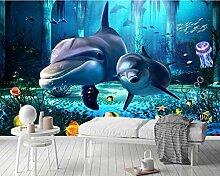 3D Wandgemälde Tapete Persönlichkeit Delphin
