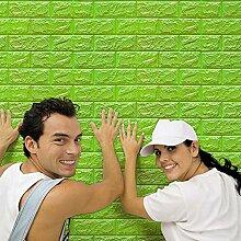 3D Wandpaneele Selbstklebend, Momola 4D Ziegelstein Tapete, Ziegel Tapete, Brick Muster Tapete, Selbstklebend Steinoptik, Brick Pattern Wallpaper für Schlafzimmer Wohnzimmer Moderne tv Schlafzimmer Wohnzimmer Dekor