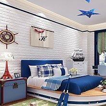 3D Wandpaneele Steinoptik, 3d Ziegelstein-Tapete, Brick Pattern Wallpaper Wandpaneele Selbstklebend für Fototapete Wandtapete Schlafzimmer Wohnzimmer Tv Schlafzimmer Wohnzimmer Dekor 60 * 60cm weiß gelb 70*31cm (70 x 31 cm(20))