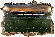 3D-Wandsticker American Football Stadium Aufkleber Mauerdurchbruch   Design 01   mittel