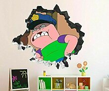 3D Wandsticker Anime Cartoon Polizei 40X60
