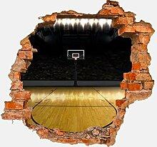 3D-Wandsticker Basketball Platz Aufkleber Mauerdurchbruch M0929 | Design 02 | mittel
