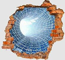 3D-Wandsticker Datentunnel Internet Aufkleber Mauerdurchbruch M0243 | Design 02 | mittel
