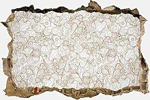 3D-Wandsticker Floral abstrakten Hintergrund Aufkleber Mauerdurchbruch M0775 | Design 01 | mittel