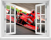 3D-Wandsticker Formel 1 Aufkleber Mauerdurchbruch M0382 | Design 03 | extra groß