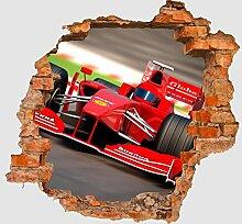 3D-Wandsticker Formel 1 Aufkleber Mauerdurchbruch M0382 | Design 02 | extra groß