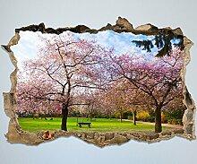 3D-Wandsticker Sakura Blumen blühen Aufkleber Mauerdurchbruch   Design 01   mittel