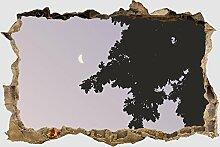 3D-Wandsticker Schatten der Nacht Aufkleber Mauerdurchbruch   Design 01   extra groß