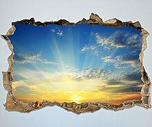 3D-Wandsticker Sonnenaufgang Natur Aufkleber Mauerdurchbruch   Design 01   extra groß