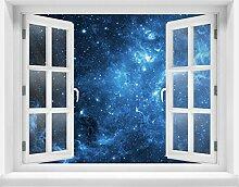 3D-Wandsticker Sternennebel Aufkleber Mauerdurchbruch   Design 03   extra groß