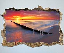 3D-Wandsticker Stimmungsvolles Meer Aufkleber Mauerdurchbruch M0300 | Design 01 | extra groß