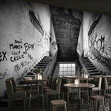 3D-Wandtapete mit Graffiti-Motiv, Retro-Stil,