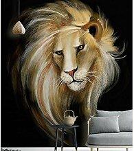3D-Wandtapete mit Löwenmotiv, für Wände, 3D,