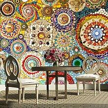 3D-Wandtapete, Mosaikfliesen, abstrakte Kunst,