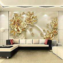 3D-Wandtapete, Vlies-Tapete, 3D-Blumen, für