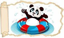 3D Wandtattoo Kinderzimmer Cartoon Bär Koala Bad