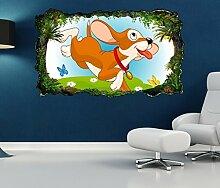 3D Wandtattoo Kinderzimmer Cartoon Hund Welpe