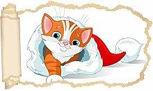 3D Wandtattoo Kinderzimmer Cartoon Katze Kätzchen