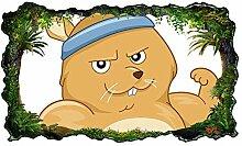 3D Wandtattoo Kinderzimmer Cartoon Maus Hamster