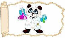 3D Wandtattoo Kinderzimmer Cartoon Panda Professor