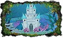 3D Wandtattoo Kinderzimmer cartoon Schloss palast