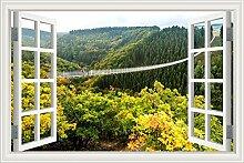 """3D Wandtattoo Sunshine Baum Landschaft Tapete Vinyl Aufkleber Home D ¨ ¦ cor, W0295, 28""""""""X40"""