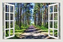 """3D Wandtattoo Sunshine Baum Landschaft Tapete Vinyl Aufkleber Home D ¨ ¦ cor, W0294, 24""""""""X36"""