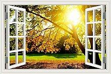 """3D Wandtattoo Sunshine Baum Landschaft Tapete Vinyl Aufkleber Home D ¨ ¦ cor, W0291, 32""""""""X48"""