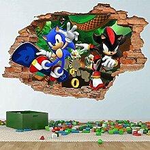 3D Wandtattoo Wandaufkleber Sonic und Shadow