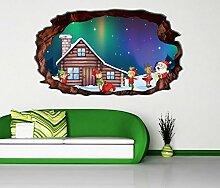 3D Wandtattoo Weihnachten Elfen Fabrik