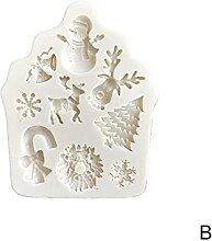 3D Weihnachten Silikon Fondant Form Kuchen