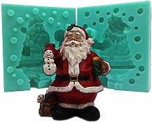 3D Weihnachts-Silikon-Kuchenform Weihnachtsmann