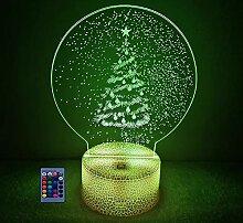 3D Weihnachtsbaum Lampe Nachtlicht Fernbedienung