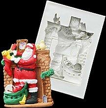 3D Weihnachtsmann Fondant Kuchen Formen Silikon