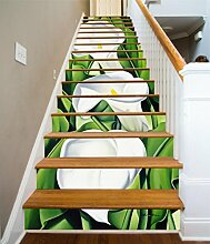"3D Weiß Calla Lilie 9 Stair Risers Dekoration Fototapete Vinyl Aufkleber Tapete DE Carly (15x H:18cm x W:94cm (7""x37""))"